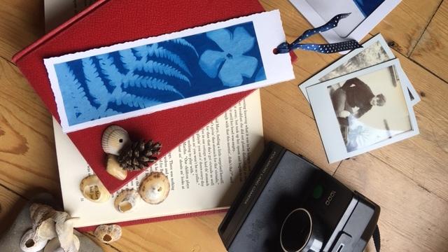 Craft materials to make a bookmark