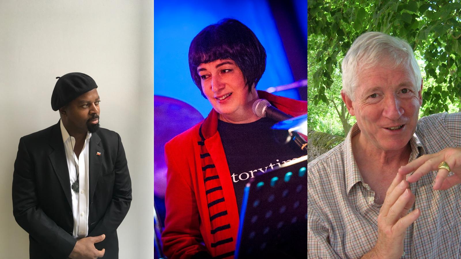 Portraits of Ben Okri OBE, Joanne Harris MBE and Kevin Crossley-Holland