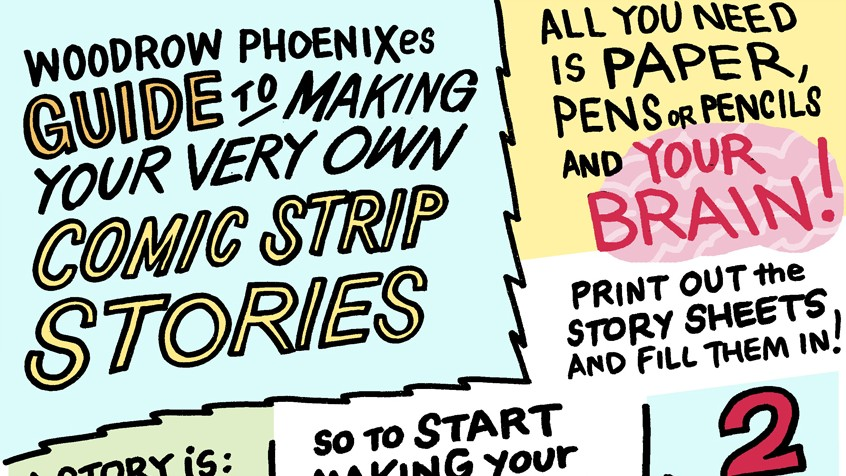 Instructions for making a comic drawn as a comic strip